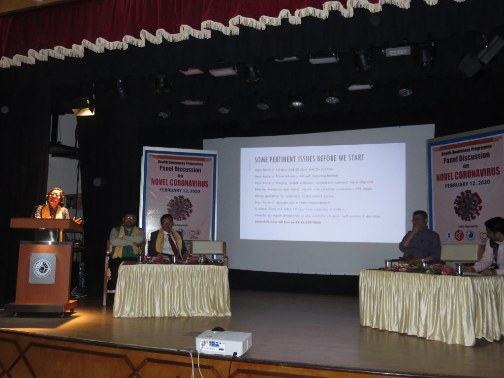 Health Awareness Prograame on Coronavirus at NBSC_ Lecture by Dr Nilanjana Ghosh, Asst Professor, Dept of Community Medicine, NBMC&H